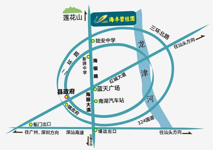 海丰到深圳地图